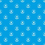 Additional reality pattern vector seamless blue. Repeat for any use vector illustration