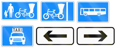 Additional Road Signs In Bangladesh Royalty Free Stock Photography