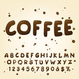 Additional set for the coffee font style. Stock Photos