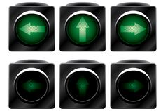 Additional traffic light. Stock Photo