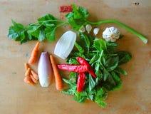 Additions végétales à la pulpe italienne de tomate image libre de droits