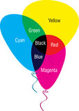 Additive colour. Illustration art of a additive colour with isolated background Stock Photo