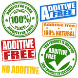 Additive free stamps Royalty Free Stock Images