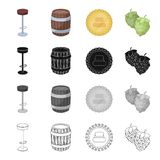 Additive, industry, cafe and other web icon in cartoon style.hops, Flowers, plants icons in set collection. Royalty Free Stock Image