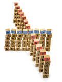 Additive manufacturing wooden blocks words isolated Stock Photography