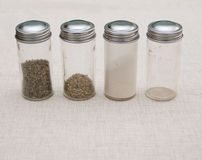 Additives. Used  spice jars Stock Photography