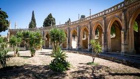 Addolorata公墓入口的全视图 库存图片