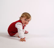 Addorable baby girl playing Stock Photo