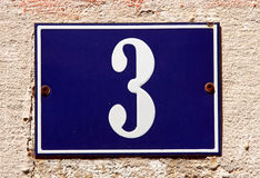 Address. Number plate on the wall Stock Images