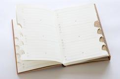 Address book. Isolated on white background Stock Photos