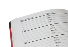 Address book Stock Photos