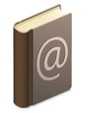 Address book. With @ sign. E-mail records royalty free illustration