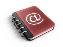 Address book. 3d rendered icon Stock Image