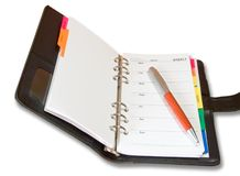 An address book. And a pen royalty free stock images