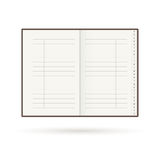 Address book with alphabet. Organiser. Contact. Notebook Stock Image