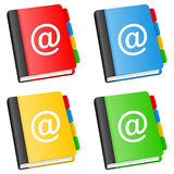 Address Book Collection. In four different versions, isolated on white background. Eps file available royalty free illustration