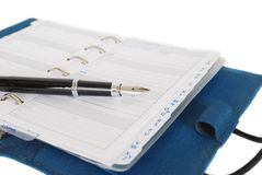 Address book and fountain pen Royalty Free Stock Photos