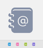 Address Book - Granite Icons Stock Image