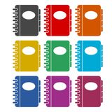 Address book icon, color icons set. Simple vector icon vector illustration