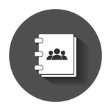 Address book icon. Stock Images
