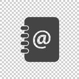 Address book icon. Email note flat vector illustration on isolated background Stock Image