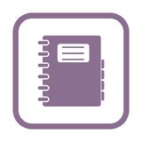 Address book icon. Vector icon Stock Images