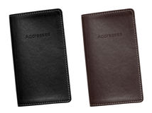 Address Book leather bound Royalty Free Stock Photography