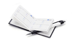 Address book and pen Stock Photos