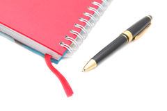 Address book & pen with copy space. Stock Images