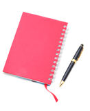 Address book & pen with copy space. Royalty Free Stock Image