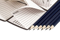 Address book and a pencils Royalty Free Stock Images