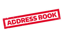 Address Book rubber stamp Stock Photography