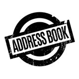 Address Book rubber stamp Royalty Free Stock Image