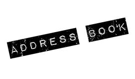 Address Book rubber stamp Stock Image