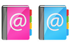 Address books. Vector address books (ladies and male Stock Photo