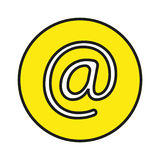 Address button. Simple flat address button icon vector royalty free illustration