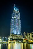 Address Hotel in the downtown Dubai area overlooks the famous da Royalty Free Stock Image