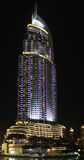 The Address Hotel in downtown Dubai in the night Royalty Free Stock Photo