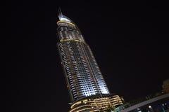 Address Hotel ,Downtown Dubai. Address hotel at Downtown Dubai - Night View Stock Photography