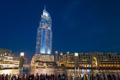 The Address Hotel, Dubai at night Stock Image