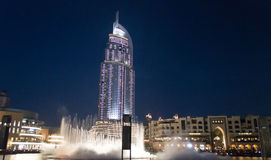 The Address Hotel, Dubai at night Royalty Free Stock Photography