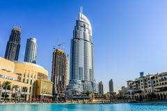 DUBAI, UAE - January 25, 2019: The Address Hotel, A Five Star Hotel In Emaar District The Downtown Dubai, United Arab Emirates royalty free stock photo
