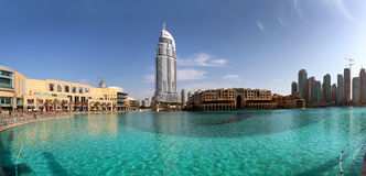 Address Hotel and Lake Burj Dubai Royalty Free Stock Image