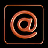 Address icon. On dark background vector illustration