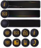 Address icons. Set of address and telephons icons isolated on white background stock illustration