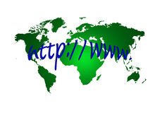 Address Internet and world map Royalty Free Stock Image