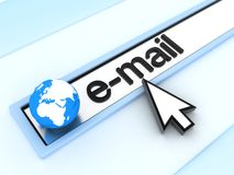 Address line, e-mail. Abstract assress line, E-mail  (done in 3d Royalty Free Stock Photos