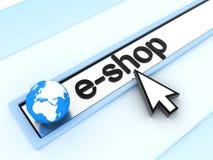 Address line, e-shop. (done in 3d Royalty Free Illustration