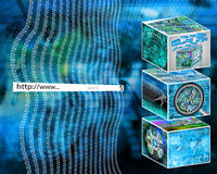 Address. Many abstract images on the theme of computers, Internet and high technology Royalty Free Illustration