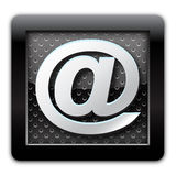 Address metallic icon. Illustration address metallic icon mail Stock Photos